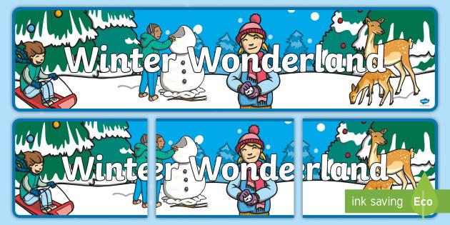 Winter Wonderland Banner.