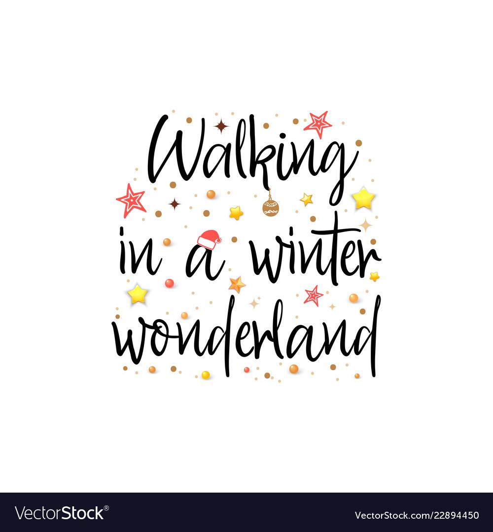 Walking in a winter wonderland holiday banner.