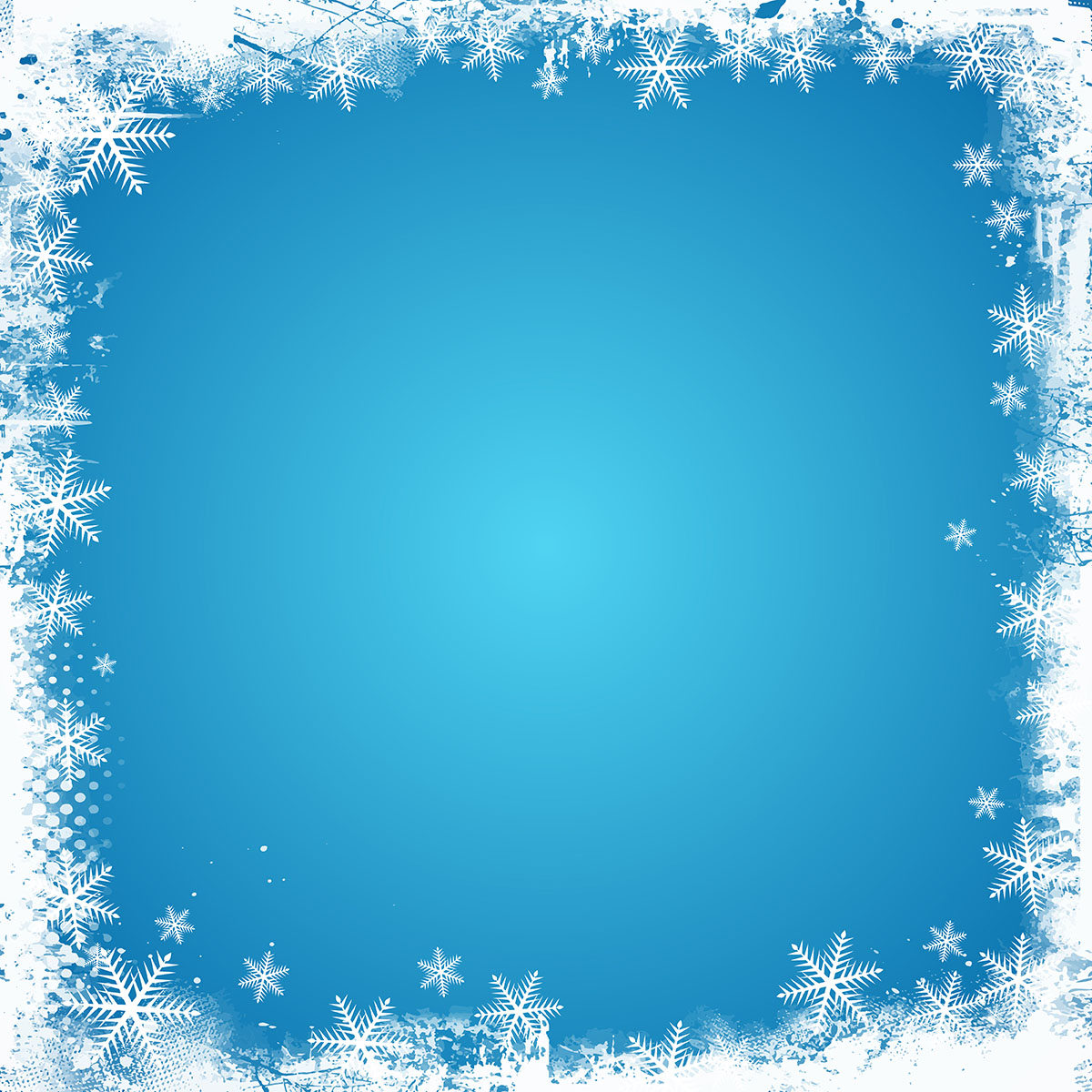Winter Border Free Vector Art.