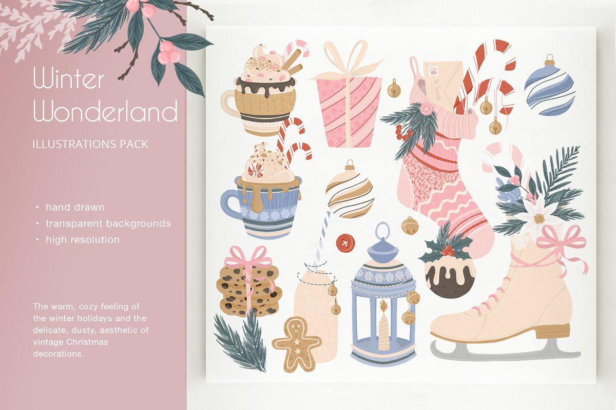 Winter Wonderland Illustration Pack.