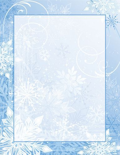 Winter Wonderland Christmas Letterhead, 8.5x11, 80/PK, 12 Pks/Case.