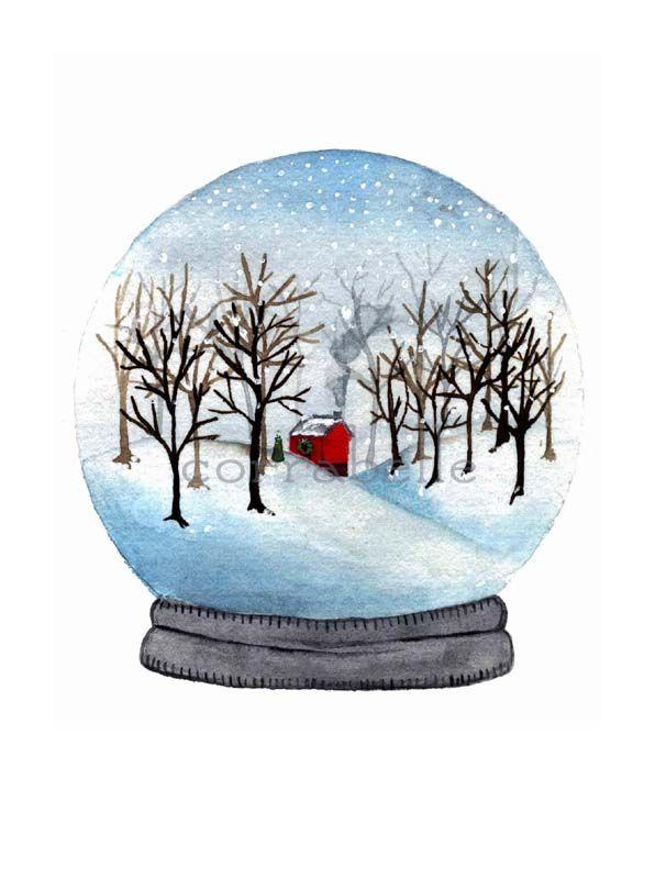 Watercolor winter wonderland? artist.