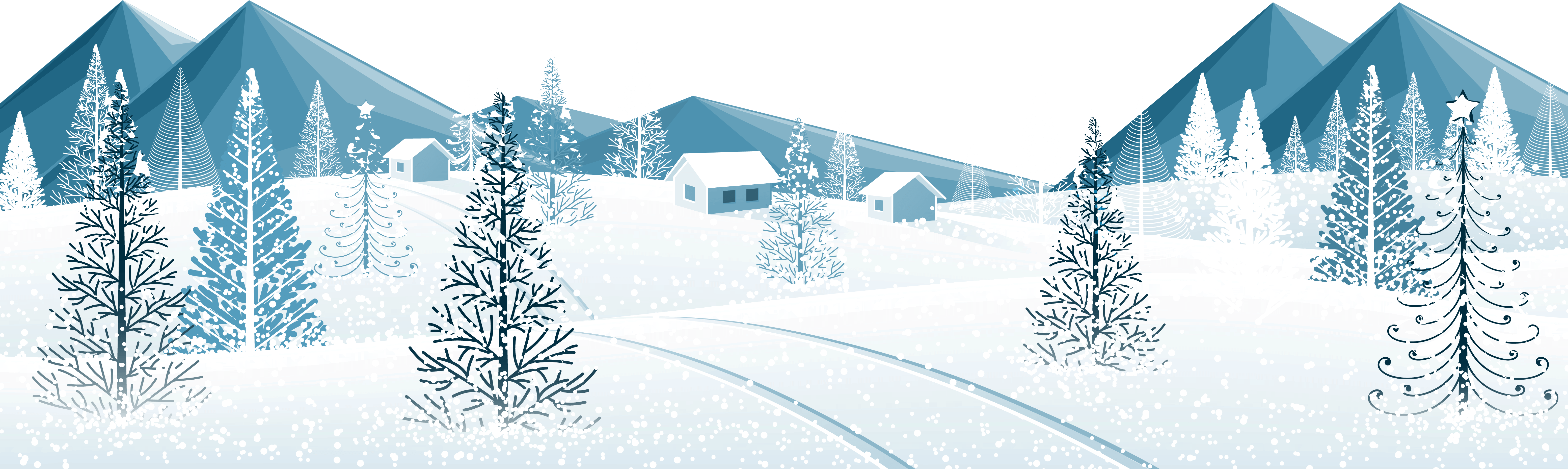 Download Winter Ground With Trees Png Clipart Image.