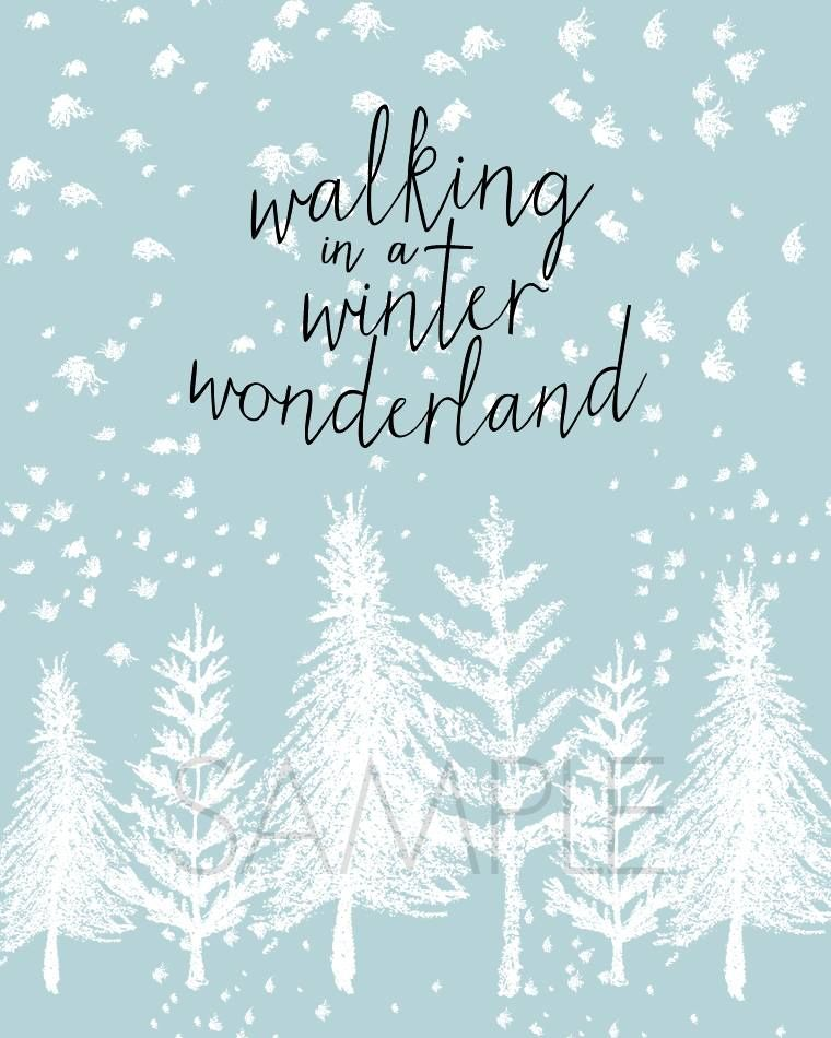 Winter Wonderland Free Printable.