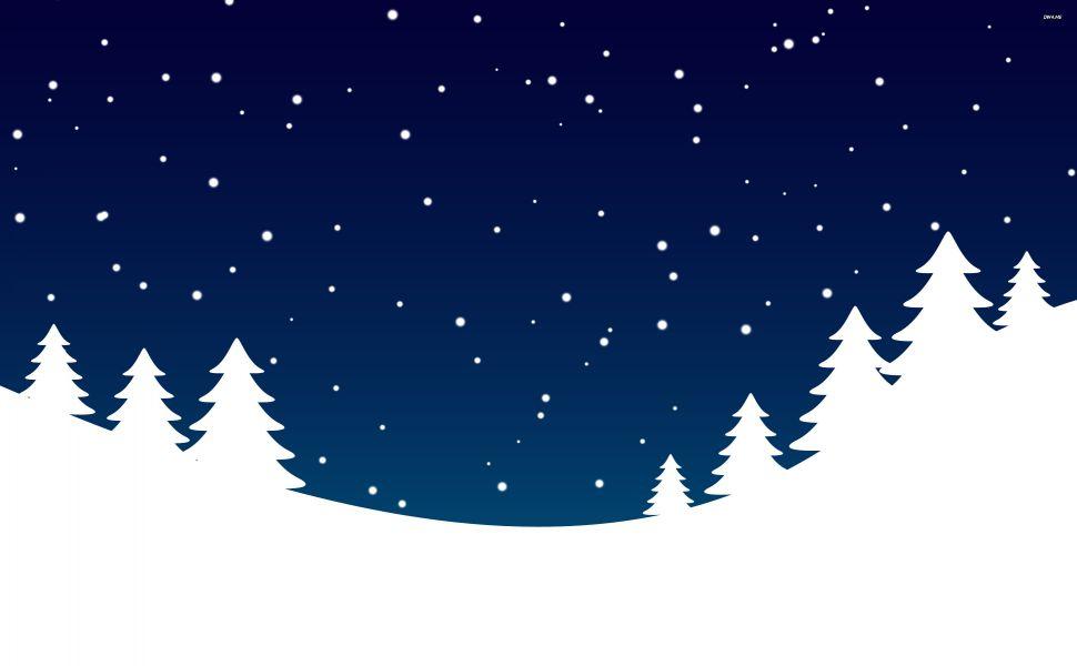 Free Winter Scene Silhouette, Download Free Clip Art, Free.