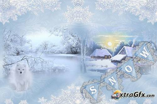 Winter Wonderland Backgrounds free clipart and ephemera.