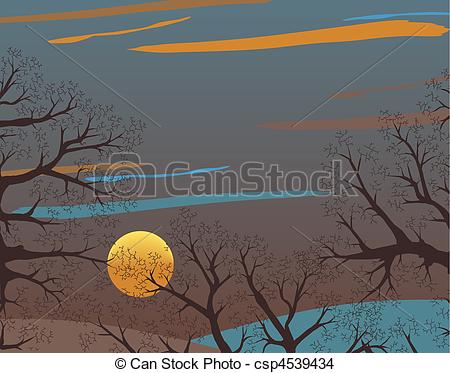 EPS Vector of Winter wood.