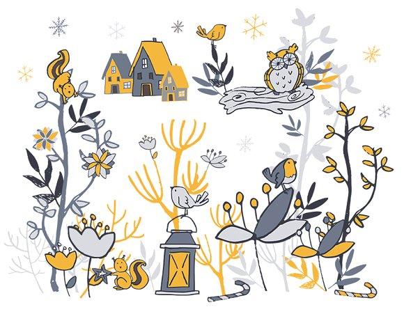 Winter Woodland Clipart.