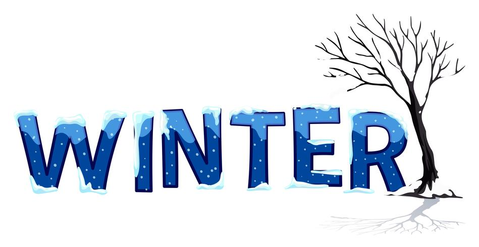 Font design with word winter.