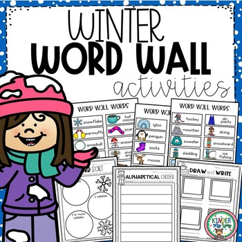 Winter Word Wall Activities.