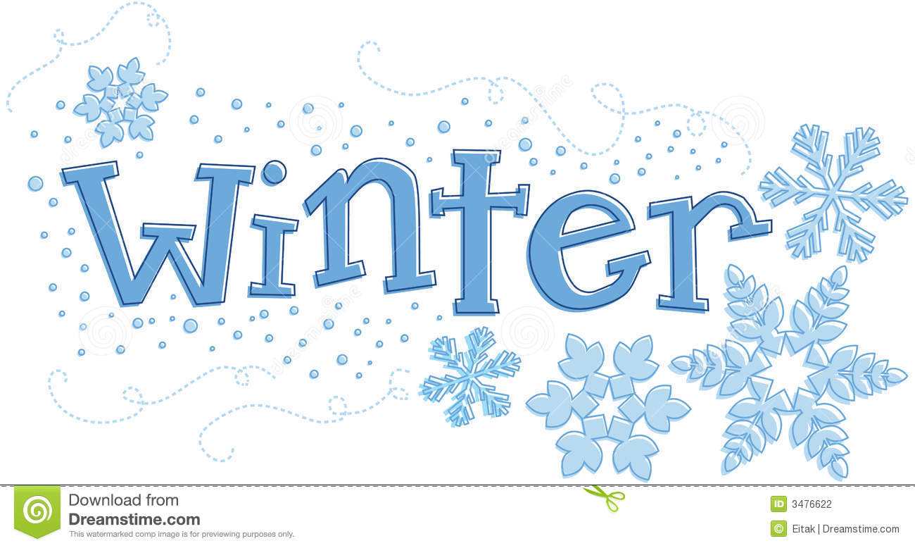 The Word Winter Clipart.