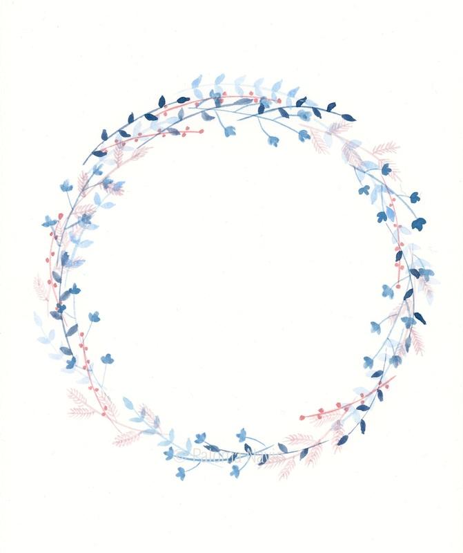 Winter Wreath Clipart.
