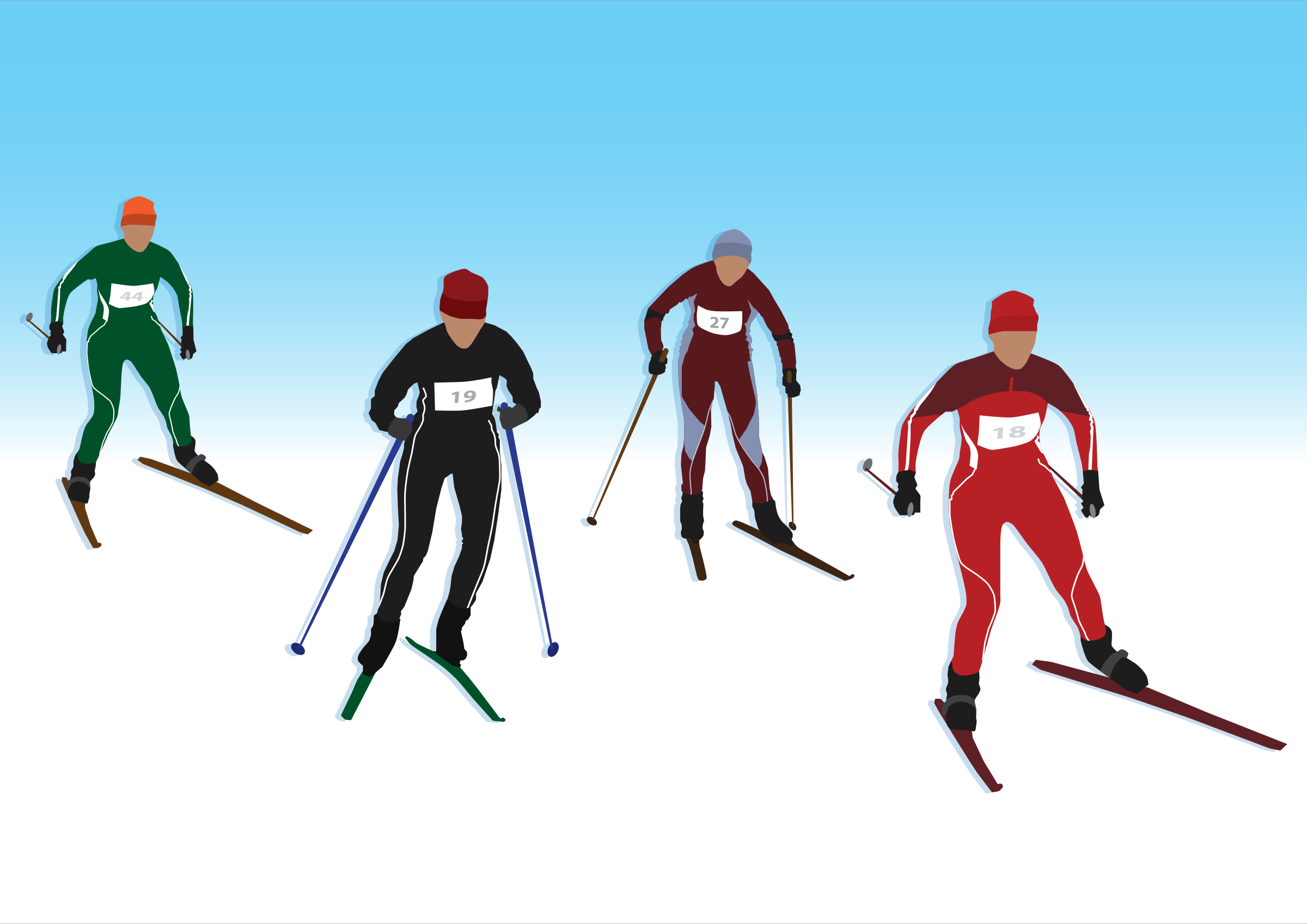 Cross Country Skier Clipart.