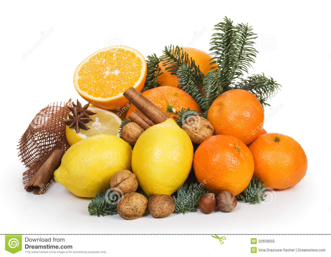 Winter Fruits Royalty Free Stock Photo.