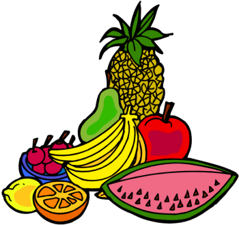 Fruits Basket Clipart.