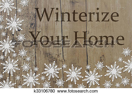 Stock Photography of Winterize Your Home Message k33106780.