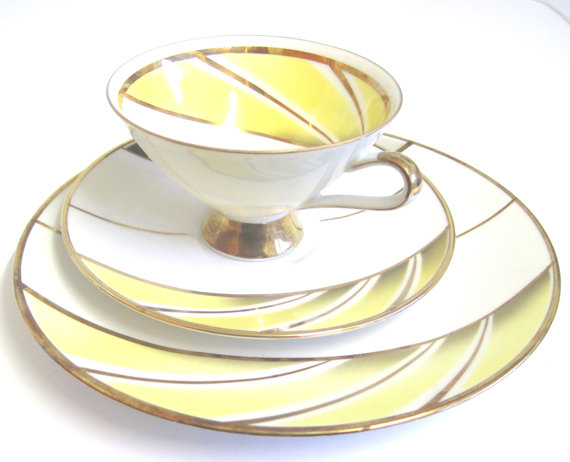 REDUCED PRICE: Porcelain Tea Trio by Winterling by TheWhistlingMan.