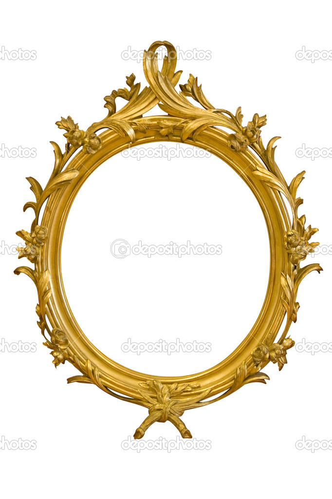 Ornamented Oval Picture Frame — Stock Photo © winterling #18804237.