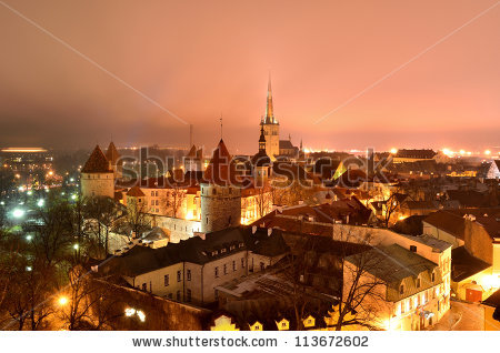 Tallinn Winter Stock Photos, Royalty.