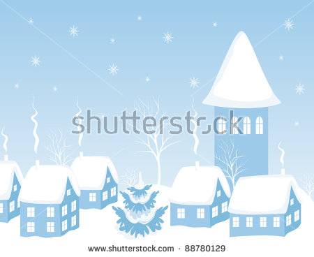 Winter Roof Stock Photos, Royalty.