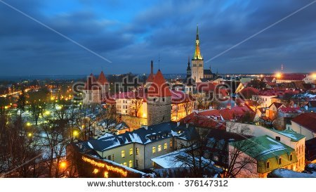 Europe City Winter Stock Photos, Royalty.