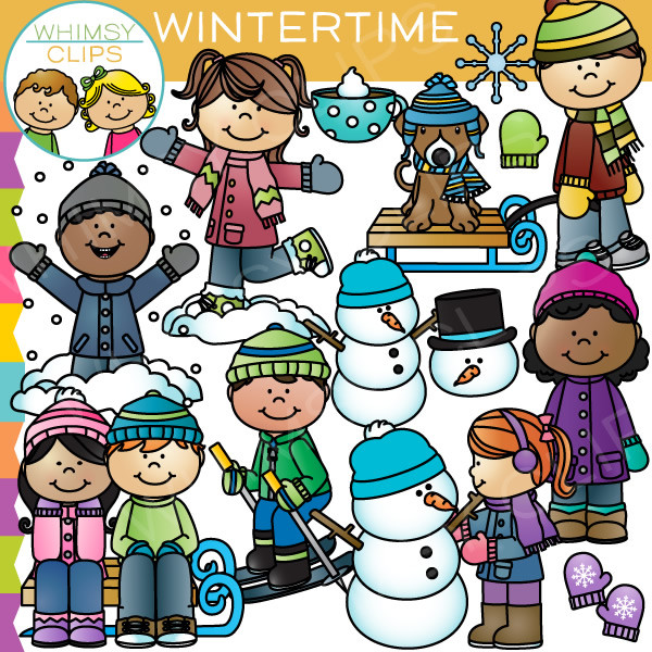 Wintertime Clip Art , Images & Illustrations.