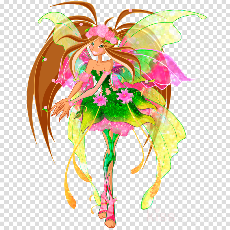 winx club clipart Flora Bloom Tecna clipart.