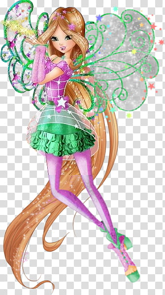 Winx Club Flora Starlix transparent background PNG clipart.