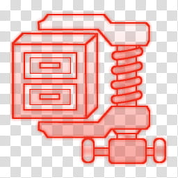 Some neon color dock icon, Winzip transparent background PNG.