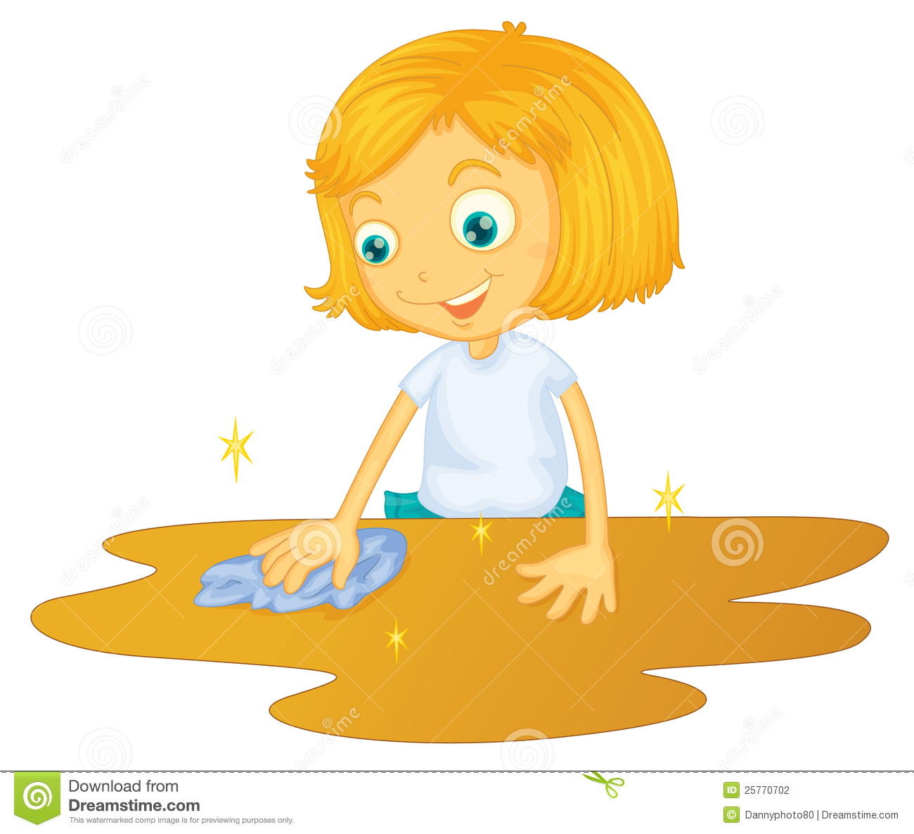 Cleaning Black Kitchen Table: Wipe Clipart