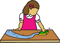 Wipe Table Clipart.