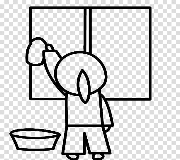 Child Stroke Glass Girl, Wipe the back of the window.