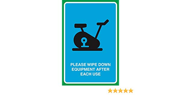Please Wipe Down Equipment After Each Use Print Gym Picture Business Sign.