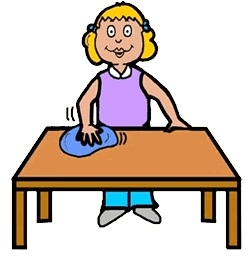 Clean Table Clipart.