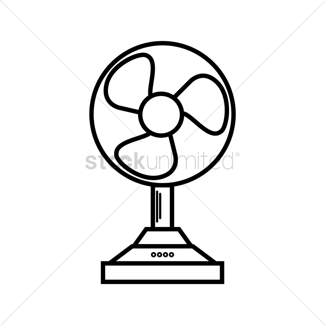 Table Fan Clipart Black And White.