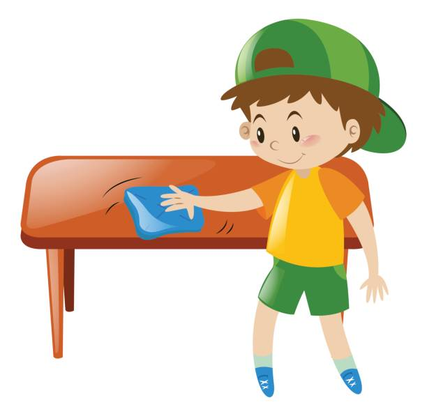 Best Wiping Table Illustrations, Royalty.