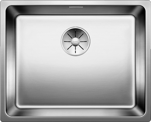 Stainless steel sinks.