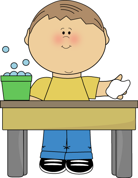 Table Cleaner Clip Art Wiping The Table #338797.