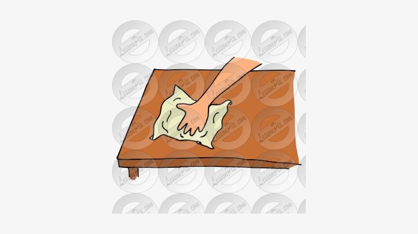 Wipe Table Cartoon.