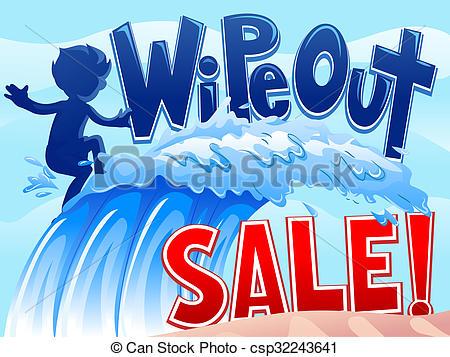 Wipe Out Sale Boy Wave.