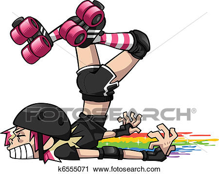 Derby Girl Wipeout Clipart.