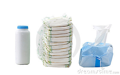 Diapers And Wipes Clipart.