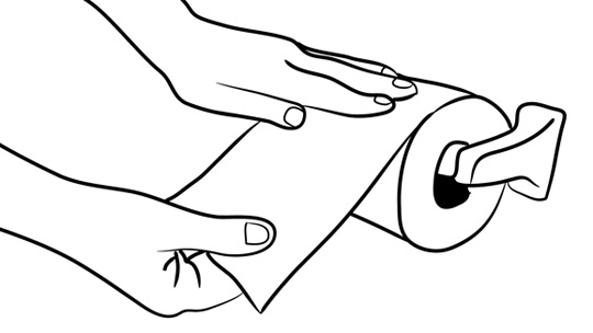 Wipe Bottom Clipart.