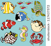Kugelfisch Cartoon.