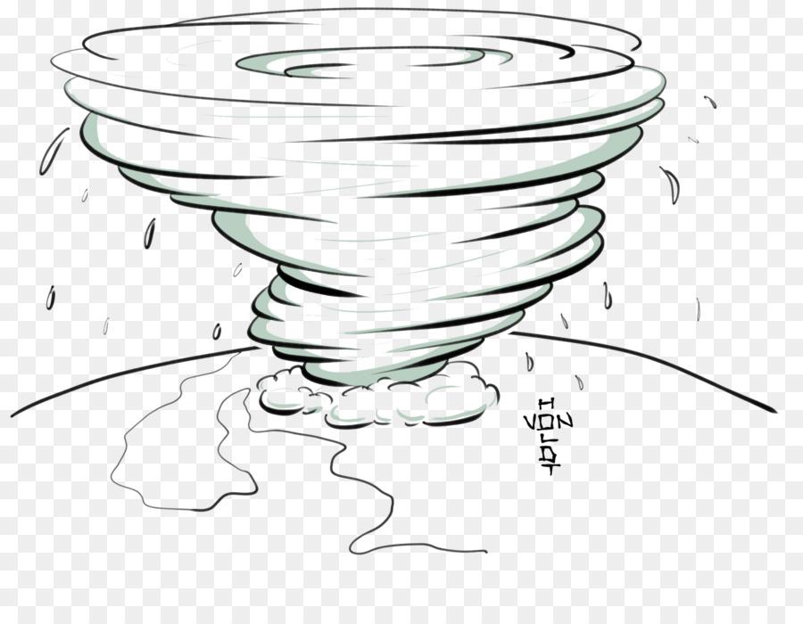 Hurrikan Katrina Zeichnung Tropischer Wirbelsturm Tornado.