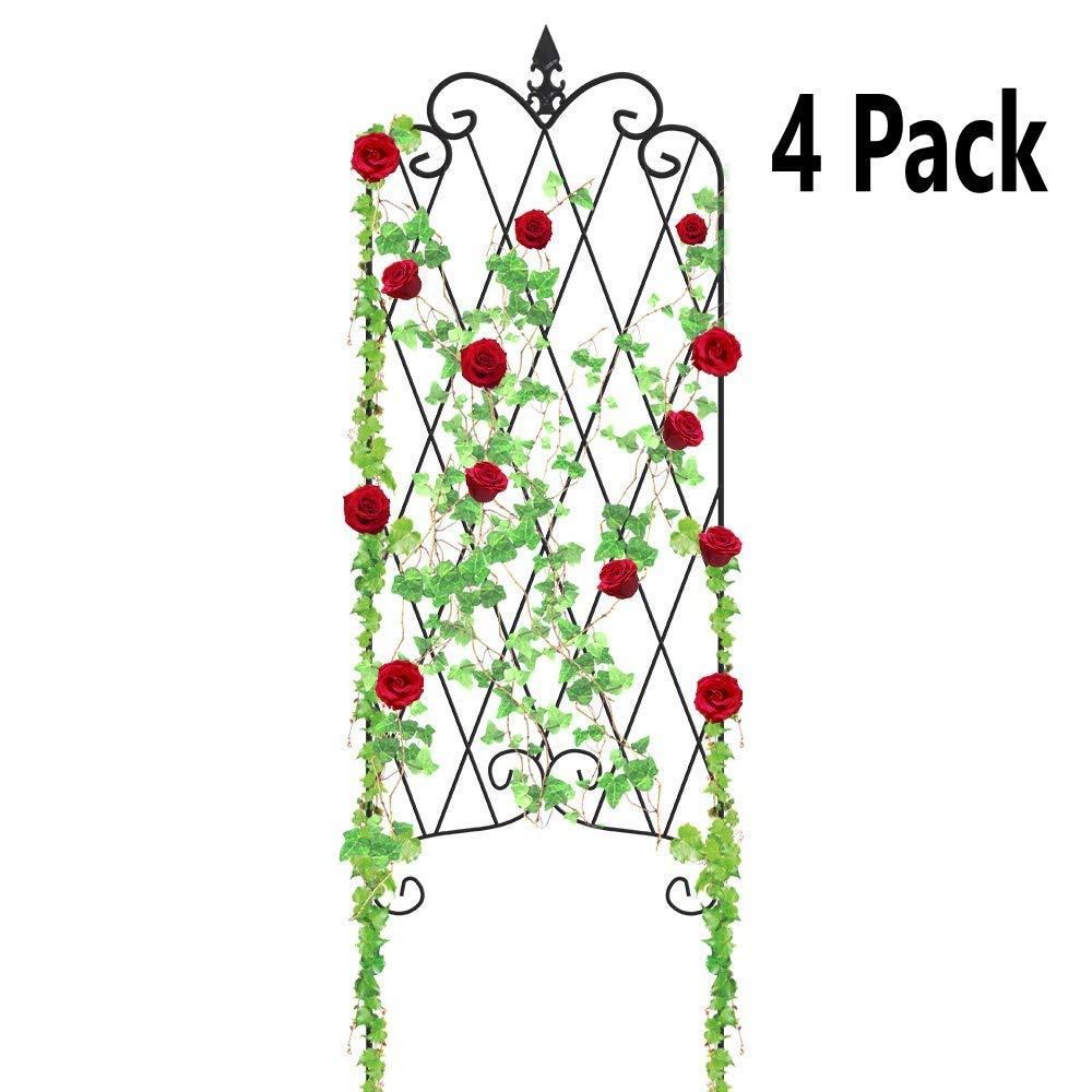 Amagabeli 4 Pack Garden Trellis for Climbing Plants 47\