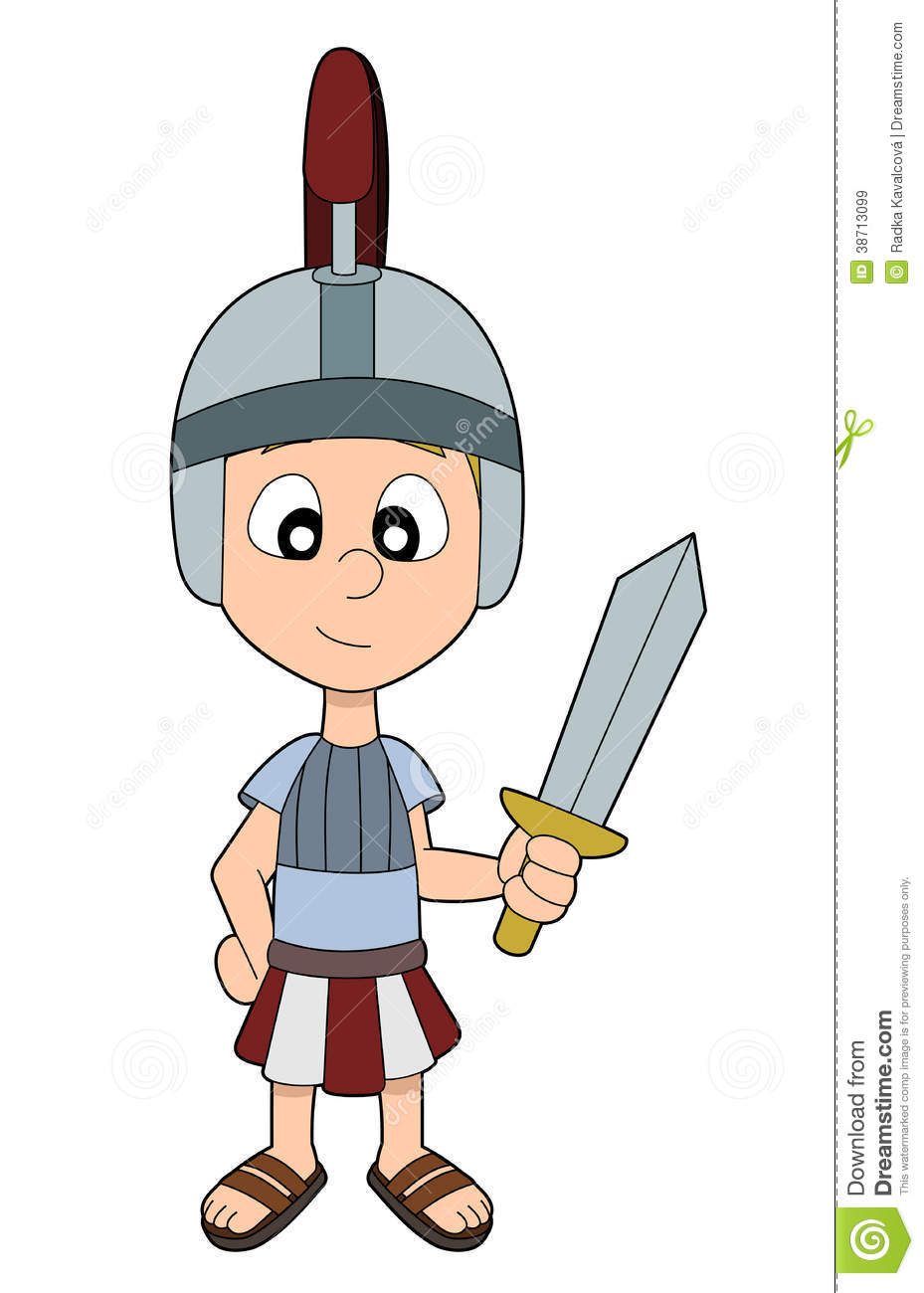 Roman Soldier Clipart For Kids.