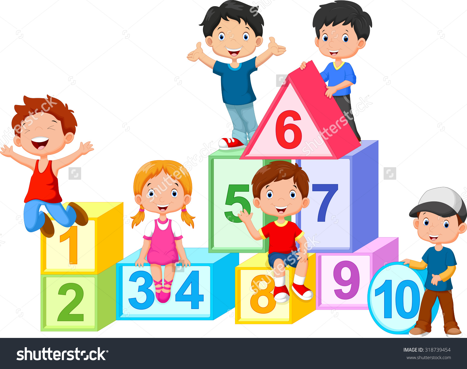 Happy Kids Learning Clipart.
