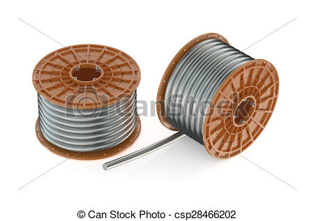Stock Illustration of two coils of steel wires.