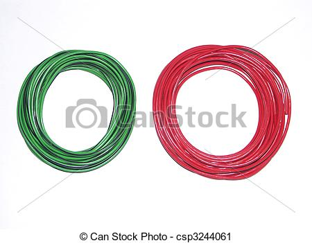 Clipart of two coil of wire.